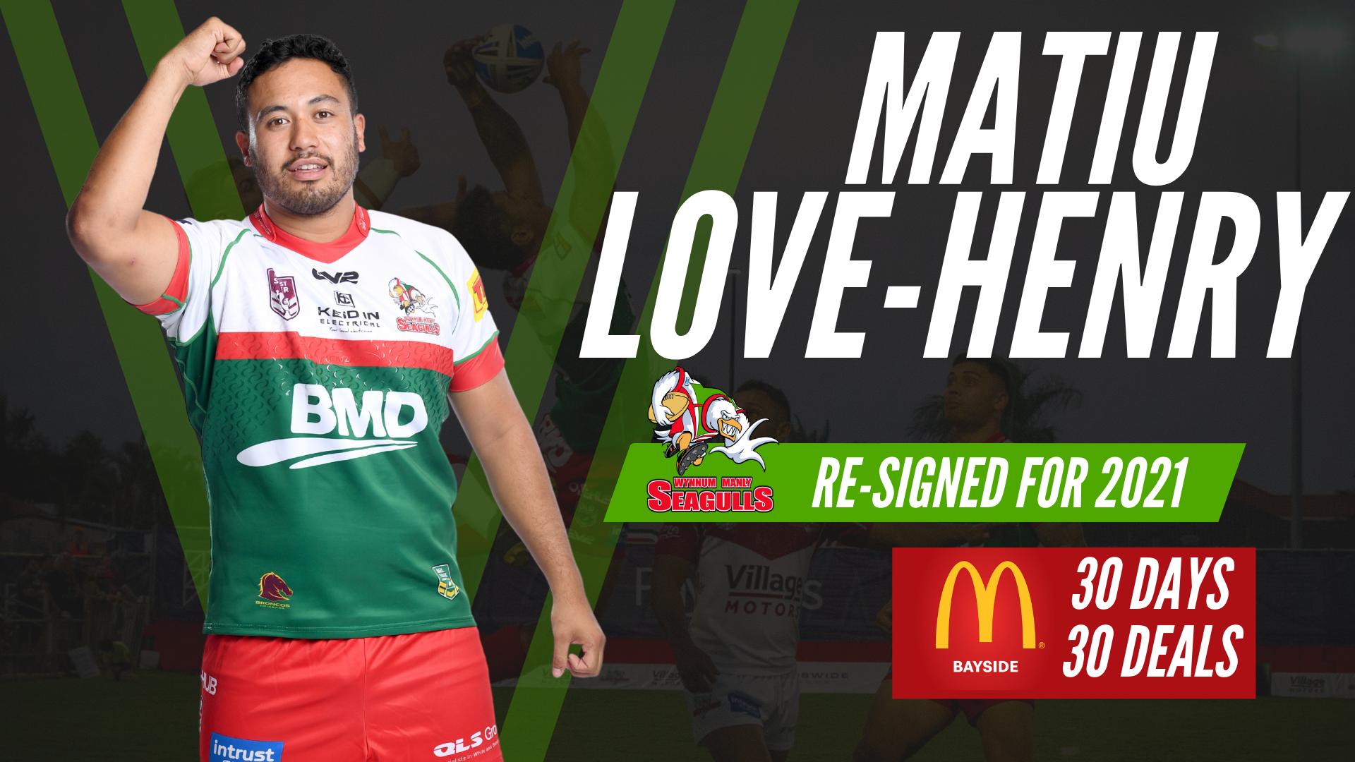 Matiu Love-Henry is back for 2021