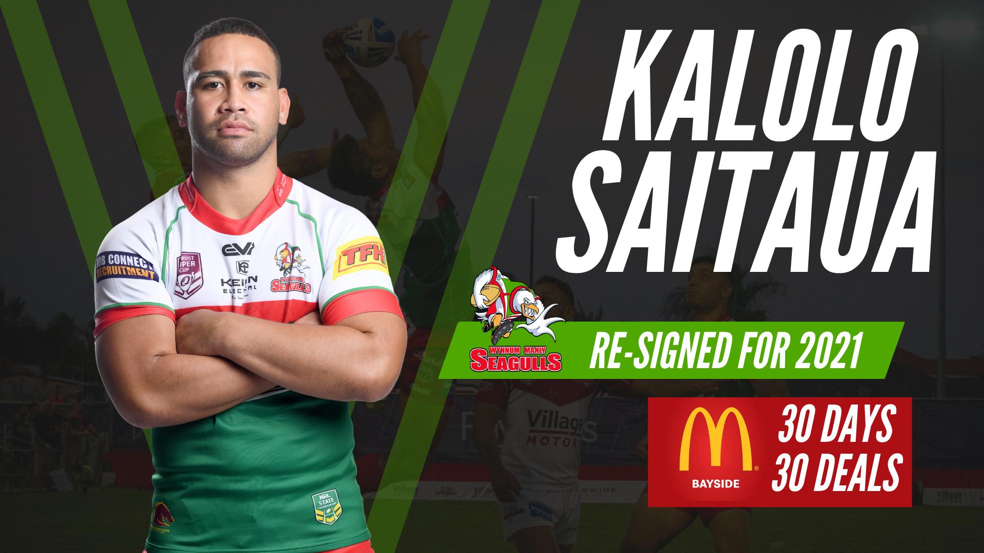 Kalolo Saitaua re-signs with the Gulls
