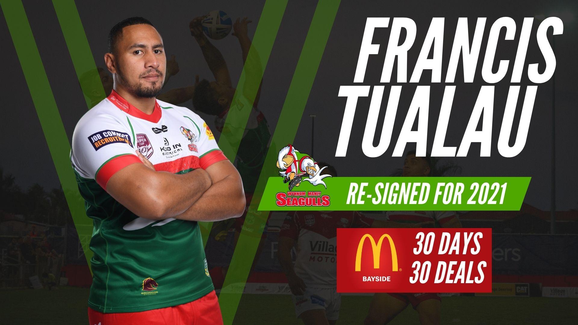 Francis Tualau returns for 2021