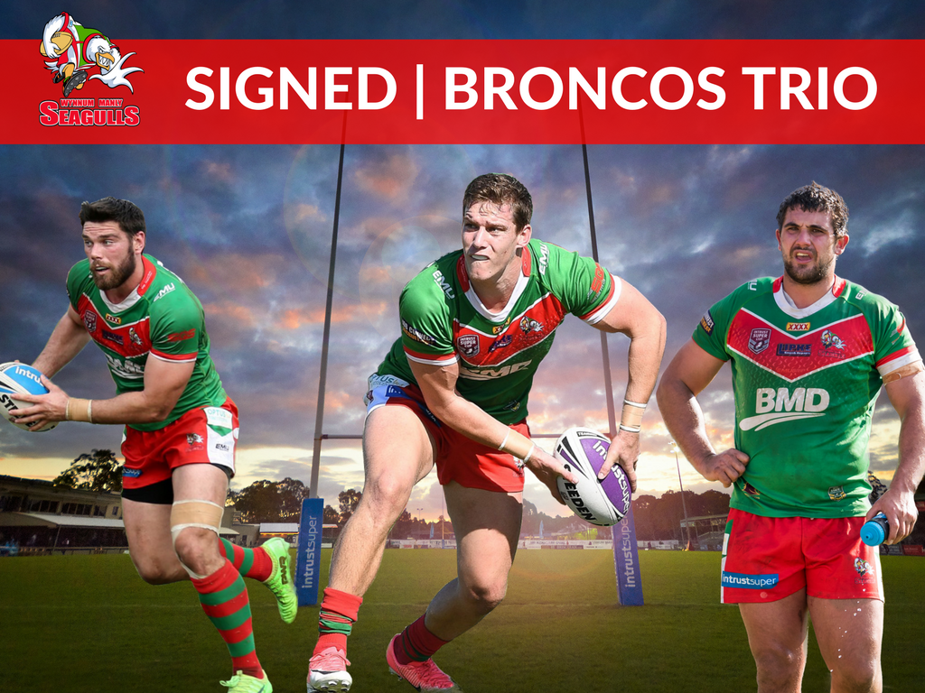 Seagulls sign Broncos trio