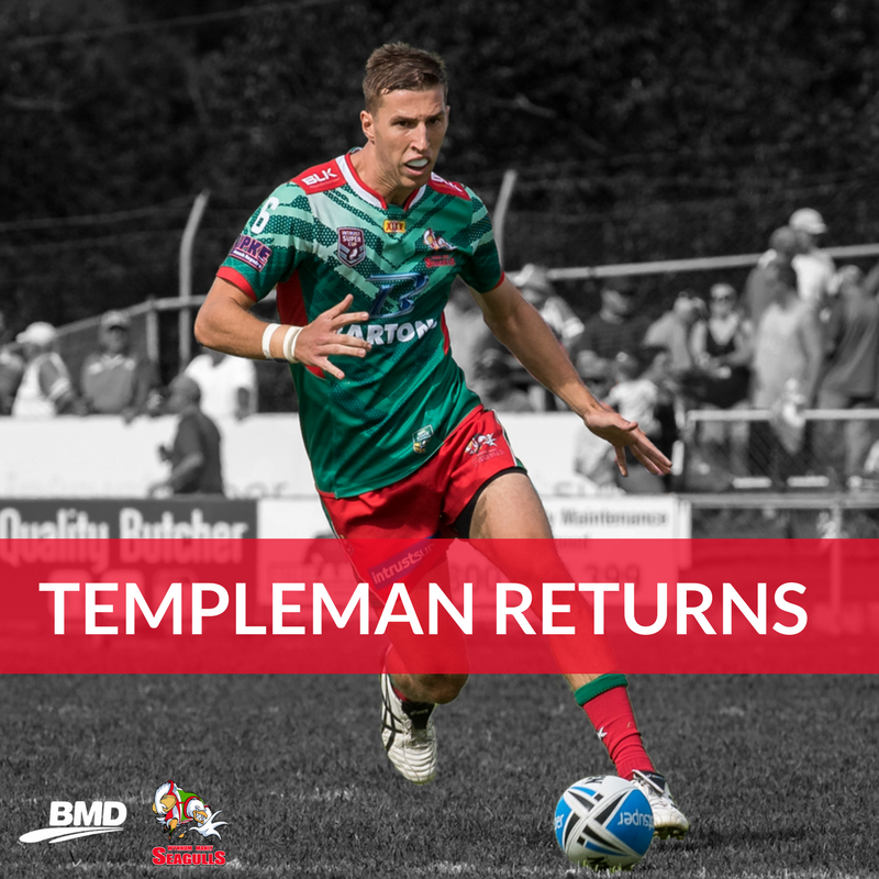 Templeman Returns For Easts Trial
