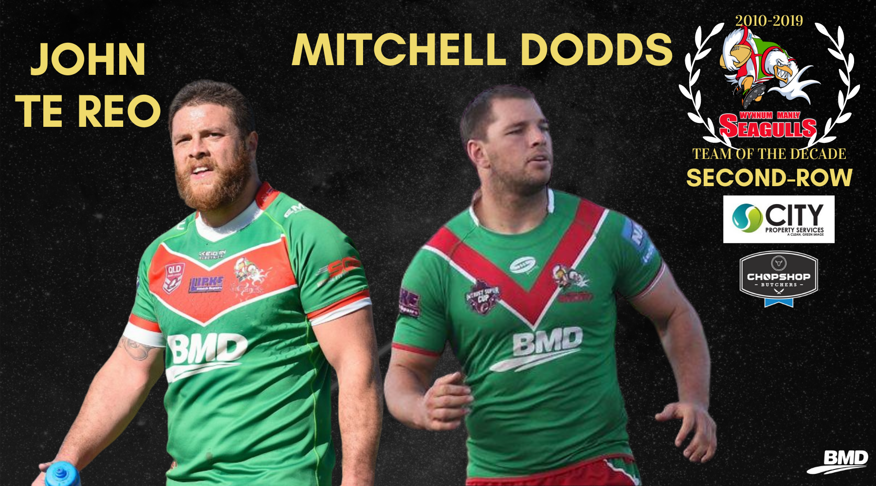 Gulls Fans Vote John Te Reo and Mitchell Dodds