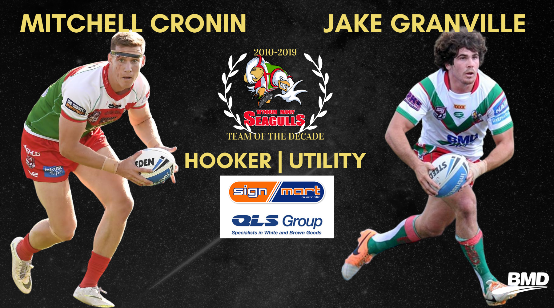 Team of Decade Hooker & Utility Announced